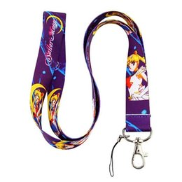 2014 new arrive 30 pcs Sailor Moon colorful neck Lanyard Cell Phone PDA Key ID long strap