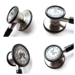 Wholesale KT119 senior stainless steel double faced stethoscope double flat medical stethoscope with gift box