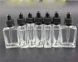 promotion price 30 ml glass bottle e liquid square glass dropper bottle with Tamper-Proof Caps in stock