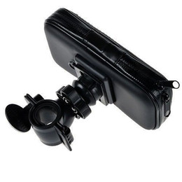 Descuento teléfonos celulares casos de cuero Motocycle Bike Mount Bicicleta impermeable caja de cuero de la cremallera para gps teléfonos celulares tamaño medio nuevo