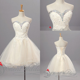 Wholesale Short Tulle Homecoming Dresses Rhinestone Graduation Pretty Cocktail Lace Cheap Cute Prom Dresses Juniors Unique Sexy for Sale In Stock