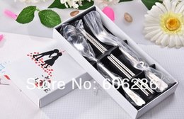 Wedding gift for guest cutlery set spoon and fork chopstick box tableware love heart fork spoon gift 100sets wholesale