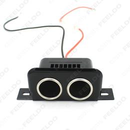 LEEWA 12V Car Motorbike Tractor Boat Cigarette Lighter Double Socket Plug SKU:2147
