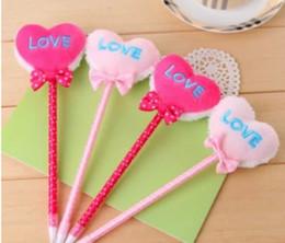 Wholesale 2015 hot sale Korea stationery love plush plush ball ballpoint pen gift advertising children kid student school