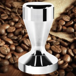Wholesale Coffee Tamper Machine Diameter Stainless Steel Flat Base Grip Handle Bean Barista Espresso Tamper pressure Kitchen Accessories