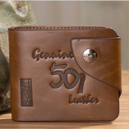 Wholesale Vintage Mens High Quality Short Leather Wallet Pockets Card Clutch Cente Bifold Purse by DHL A