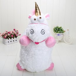 Wholesale 22 inch Hot Film Character Despicable Me Fluffy Unicorn Plush Pillow Toy Doll big Fluffy figure