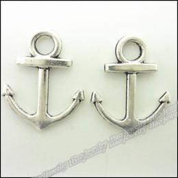 Charms Antique Plated Silver Zinc Alloy Anchors Fit Pendant Bracelet Necklace DIY Jewelry 200pcs