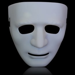 Wholesale Halloween j for abb awockeez mask modern white hip hop mask dance party