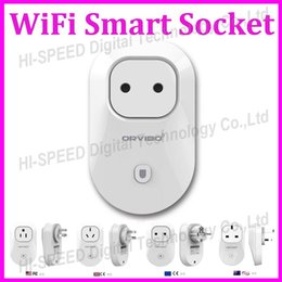 Wholesale 2015 Orvibo EU US UK AU Standard Power Socket WiFi Smart Switch Travel Plug Socket Home Automation app for iphone Ipad Android Smartphones