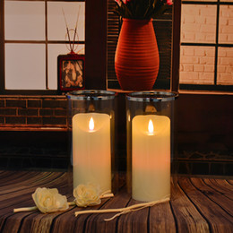 Wholesale high quality led tea light Led tealights battery operated moving flame candle rechargeable led wax pillar candles