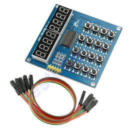 Wholesale TM1638 Bits LED Keyboard Scanning Digital And Display Module Digital Tube New
