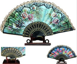 Black Lace Wedding Fans Ladies Hand Dancing Folding Fan Retro Bun Deco Fans Handmade Wedding Tourism Guest Gift