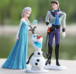Película de acción en venta-El más barato conjunto de juguete! 2014 Nueva película Frozen Anna Elsa Hans Kristoff Sven Olaf acción del PVC calcula los juguetes de los niños de la muñeca de regalo # 6 SV000972