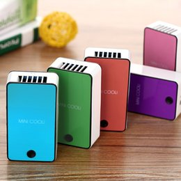 Wholesale New Mini USB Cooler Portable Hand held Air conditioning fan Mini Air conditioner Cooler comfortable