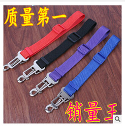 Wholesale 4 designs High quality Adjustable Car Vehicle Safety Seatbelt Seat Belt Harness Lead for Cat Dog Pet SIZE CM C1287