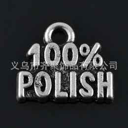 Antique Silver Plated 100% Polish Vintage Alloy Letter Charms Wholesale For Jewelry Making 13*15mm 50pcs AAC960