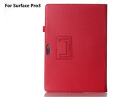 Wholesale 12 quot Microsoft Surface Pro Surface PRO Folid Stand PU Leather Case Cover Skin
