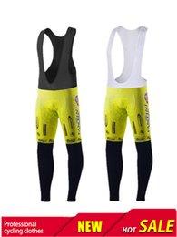 Wholesale VINI Fantini ACQUA SAPONE abbigliamento ciclismo cycling bib pants orange gel pad yellow pants