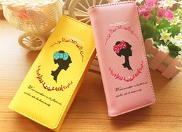 Wholesale-New PU Leather Candy Color wallets Cute Women Wallets PU Leather Long Purse For Girls