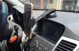 Wholesale NEW in Multipurpose Bridge Car Phone Holder Kit for iPhone6 plus Samsung S6 Mobile Car Window Air vent Dashboard Gel Mount