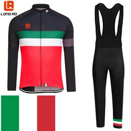 Wholesale Cycling Bibs Italia - Wholesale-LONG AO newest 2015 Italia Pro cycling team long sleeve bib suits Italy cycling jerseys road bike clothes wear bicycle clothing