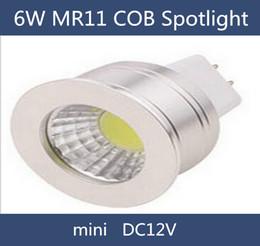 MR11 6W COB LED spotlight DC12V 35mm diameter mini led bulb lamps for home lighting free shipping