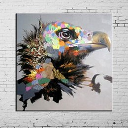 Wholesale Modern Abstract Painting Eagle Animal Decorative Paintings Pure Hand painted Oil Picture Pop Art Works For Home Decorations