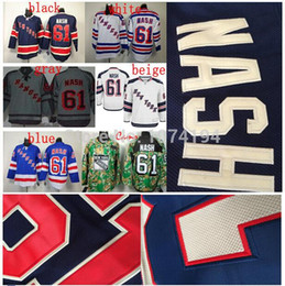 Sell Cheap Men's New York Rangers #61 Rick Nash Hockey Jerseys Blue Authentic Stitched Embroidery Jerseys Order Free Shipping