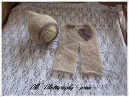 handmade crochet baby hat full set mohair baby pant photography props