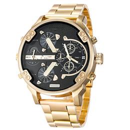 Sports Mens Watches Big Dial Display Top Brand Luxury watch Quartz Watch Steel Band 7333 Fashion Wristwatches For Men 7315