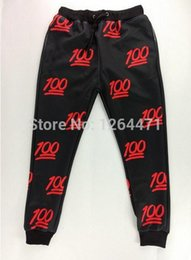 Wholesale-first issue new 100 emoji joggers pants white black for women men girl boy sweatpant trousers cartoon outfit clothes size S-XL