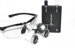 Wholesale 3 X420mm Black color Dental Medical Binocular Loupes Optical Glass Loupe LED Head Light Lamp