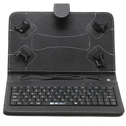 Wholesale US Stock Colorful Leather Case USB Keyboard For quot Tablet PC Leather Case Inch Stand Case for Inch Android Tablet