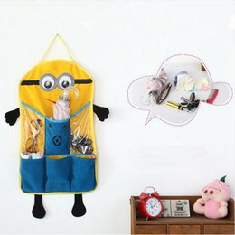 Wholesale LJJG268 HOT Despicable Me Minions Hanging Storage Bag Bathroom Bedroom Wall Pockets Door Organizer Sundries Buggy Bag Pockets