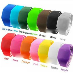 Hot selling Soft Led Touch Watch Jelly Candy Silicone Digital Feeling Screen Watches Unisex Watch Christmas Gifts