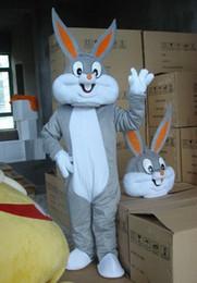 Bugs Bunny Costumes Mascot Adult Cartoon Mascot Cartoon Rabbit character Mascot