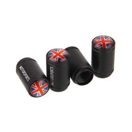 Wholesale Universal Aluminum UK LOGO Car Wheel Tyre Tire Valve Stem Caps For All Model Car Truck Bicycle set OEM Mixed
