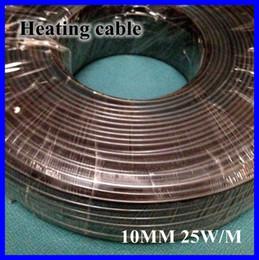 Cable calefactor techo en venta-Al por mayor-anticongelante Escarcha Protección Calefacción Cable para pipa de agua / Azotea 230V 10MM 25W / M 65C Auto Regulación Calentador eléctrico de alambre de cobre