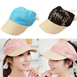 Wholesale-Women Lace Adjustable Sun Visor Hat Tennis Golf Summer Sports Plain Caps Free Shipping
