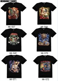 Wholesale 100 Styles men D t shirts rock cotton fashion Iron Maiden rock hip hop t shirts tops male S XXXL