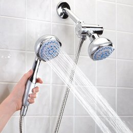 Wholesale High Quality Bathroom Wall mounted Dual Head in Bath Shower Spray Set with Handheld Shower Head H16543