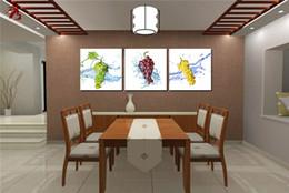 Wholesale Vert pourpre jaune raisins peintures cuisine fruit cuadros décor modulaire peinture impressions bon marché moderne toile art mur salon