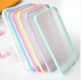 Wholesale Hybrid TPU Bumper Frosted Hard PC Case Double Candy Color Hard Plastic Clear Cover Case Colorful Clear Back Shell For Iphone Samsung