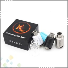 Wholesale Best KENNEDY RDA Kit Dripper Atomizers Extra Glass Tube Wide Bore Drip Tip Vaporizers PEEK Insulator Fit E Cig DHL Free