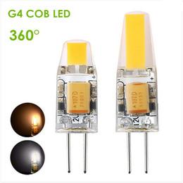 10pcs lot No Dimmable G4 LED 12V AC DC COB Light 3W 6W High Quality LED G4 COB Lamp Bulb Chandelier Lamps Replace Halogen LED Light
