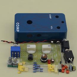 Wholesale Build your own DIY Compressor Guitar Effect Pedal Electric Pedals Blue