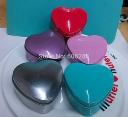 Wedding Candy Tin Box Heart Shape Various Color Mint tin Wedding Supplies 200PCS LOT