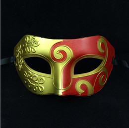 Wholesale 2016 new Ancient Greek and Roman gladiator mask Spray painting Masquerade Mask masks prince halloween masks for adults