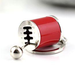 Wholesale nterior Accessories Key Rings Six speed Manual Transmission Shift Lever Keychain Creative Auto Part Model Automotive Keyring Key Chain Ri